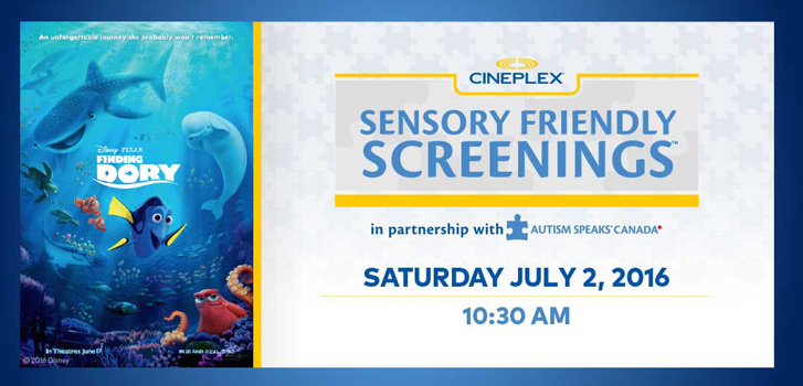 Finding Dory is the Next Sensory Friendly Screening at Select Theatres