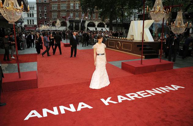 Anna Karenina premiere, Keira Knightley