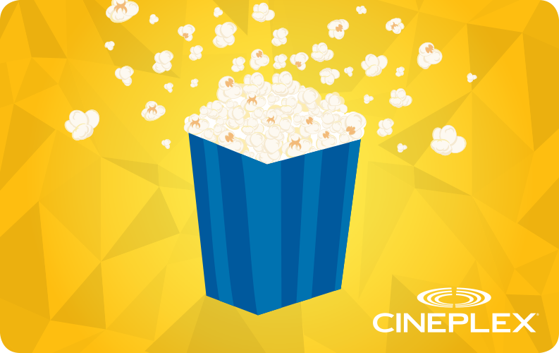 Store your Cineplex Gift Cards in your account, and always have instant access to redeem or check balance – no more lost cards!