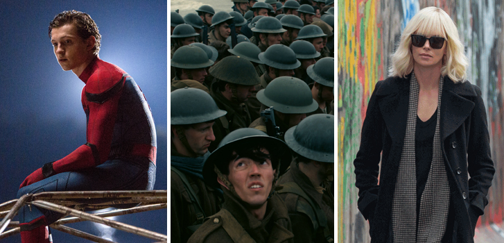 Spider-Man:Homecoming, Dunkirk, Atomic Blonde and all the movies you need to see this July