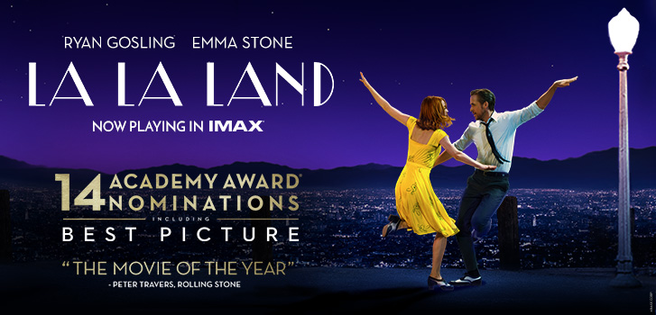 Catch La La Land in IMAX for a limited time only at Cineplex!