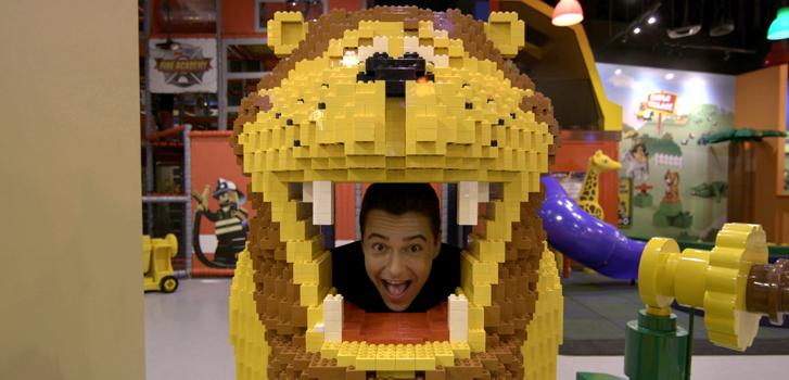 Tanner visits Legoland for The Lego Batman Movie