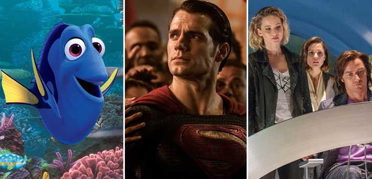 finding dory, batman v superman: dawn of justice, x:men apocalypse, image