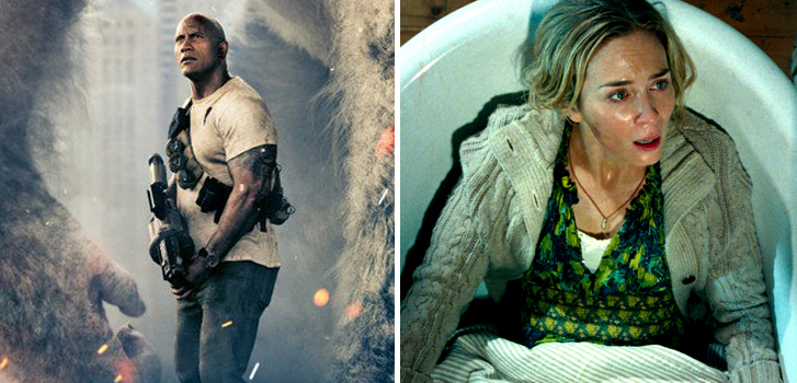 Rampage, A Quiet Place, and more got new trailers this week!
