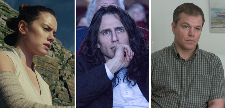 Downsizing, Star Wars: The Last Jedi, and The Disaster Artist top today's movie news roundup!