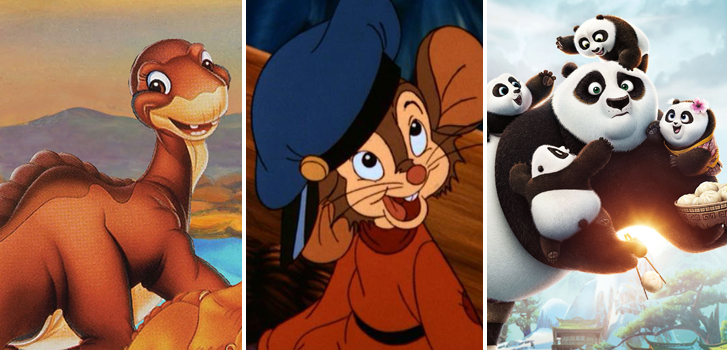 From An American Tail to Kung Fu Panda 3, our Family Favourites in October