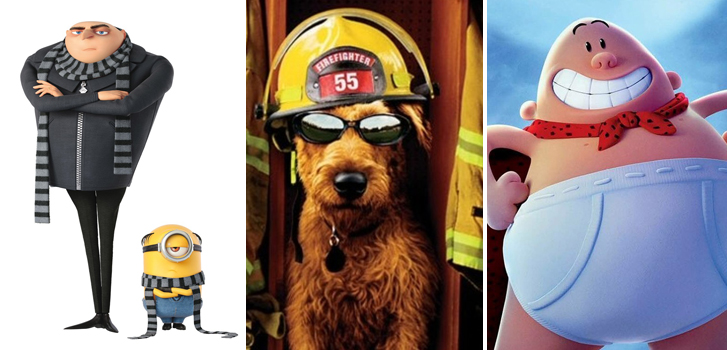 Despicable Me 3, Captain Underpants, and more in our October Family Favourites!