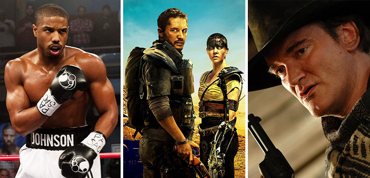 michael b. jordan, creed, tom hardy, charlize theron, mad max:fury road, quentin tarantino, the hateful eight, image