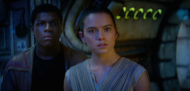 john boyega, daisy ridley, the force awakens, star wars, image
