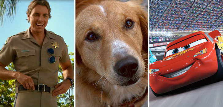 Pixar's Cars 3 and CHiPs trailers, A Dog's Purpose featurette and more make our weekly round-up