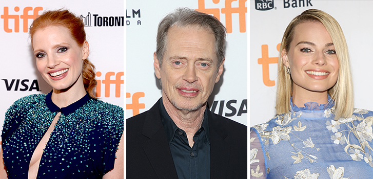 Jessica Chastain, Steve Buscemi, and Margot Robbie arrive at the Toronto International Film Festival!