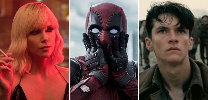 Atomic Blonde, Deadpool, and Dunkirk feature in today's roundup!