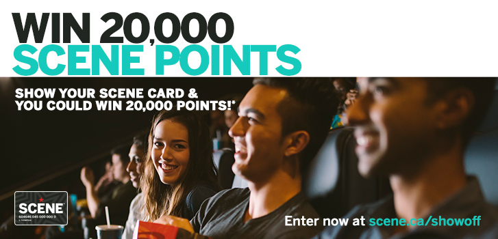 SHOW-off your SCENE card and earn bonus points this holiday season!