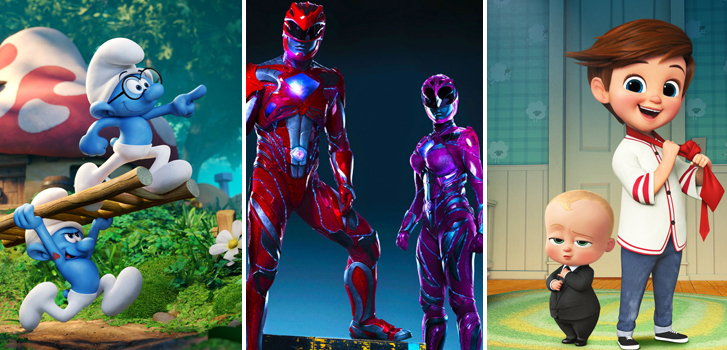 Power Rangers, Smurfs and The Princess Bride are in September's Family Favourites!