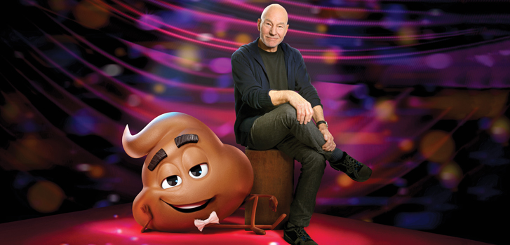 The Emoji Movie's Patrick Stewart on switching it up to voice a character called Poop