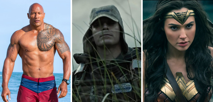Alien: Covenant, Wonder Woman, and Baywatch top our list of new titles in the Cineplex store for August!