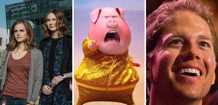The Circle, Sing and TED Cinema Experience top Tanner's What to Watch weekend preview