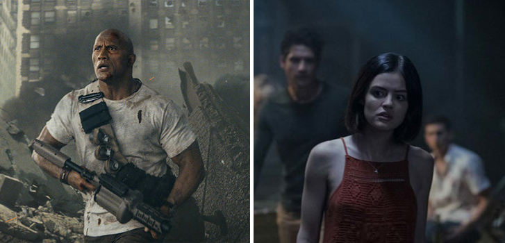 Rampage and Truth or Dare land in theatres this weekend