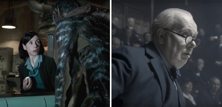 The Shape of Water and Darkest Hour top our What to Watch weekend preview