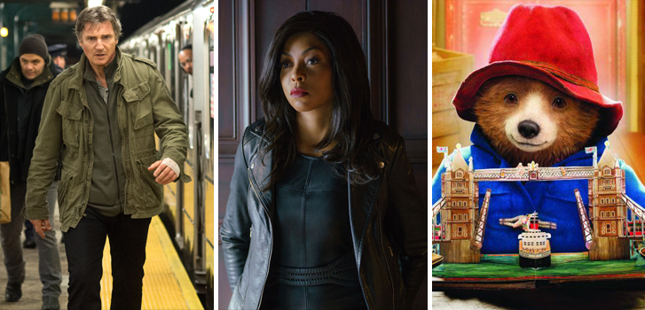 The Commuter, Proud Mary and Paddington 2 top our What to What weekend preview