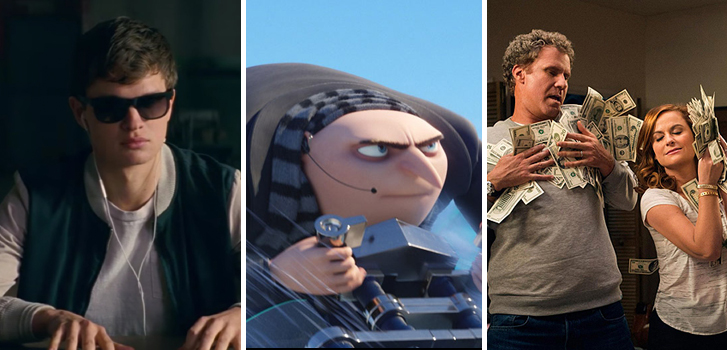 Baby Driver, Despicable Me 3 and The House make Tanner's What to Watch weekend preview