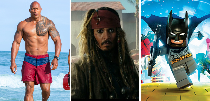 Baywatch, Pirates of the Caribbean and Lego Dimensions Leagues make Tanner's What to Watch weekend preview