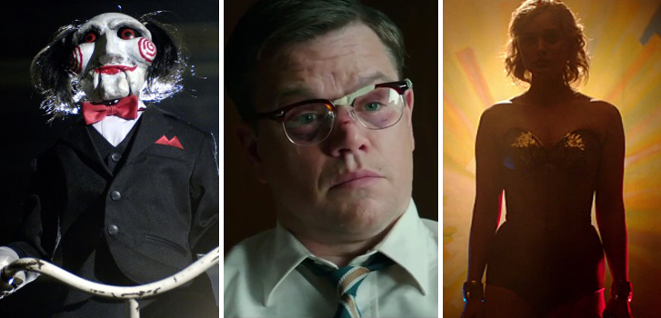 Jigsaw, Suburbicon and Professor Marston and the Wonder Women top our What to Watch weekend preview