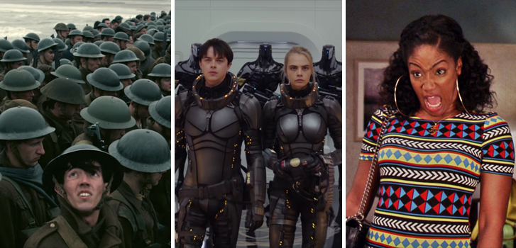 Dunkirk, Girls Trip and Valerian and the City of a Thousand Planets tops Tanner's What to Watch weekend preview