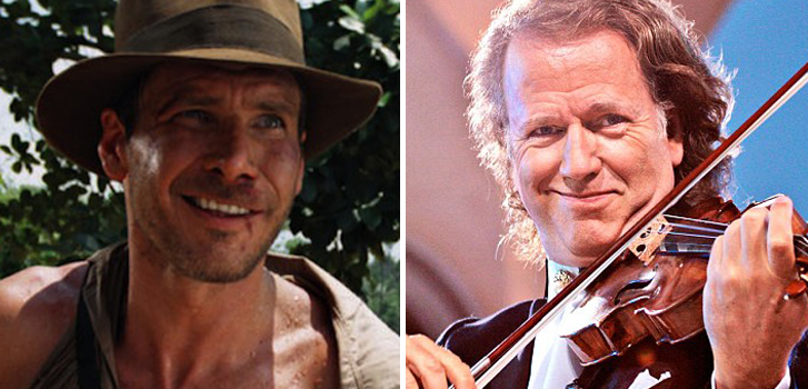 harrison ford, indiana jones, andre rieu,