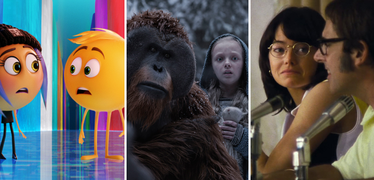 The Emoji Movie, War For The Planet of The Apes, and Battle of the Sexes make our daily movie news!