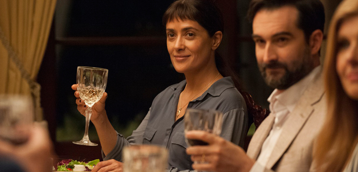 Salma Hayek, John Lithgow and Connie Britton on their new indie film Beatriz at Dinner
