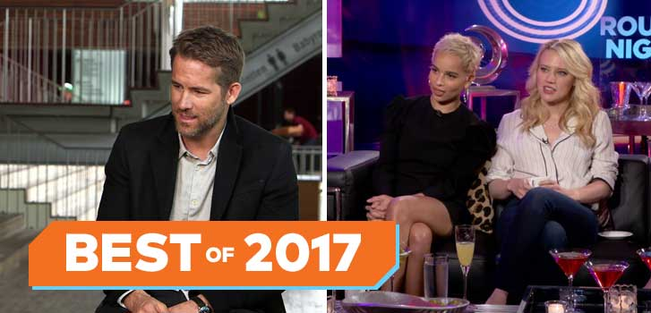 Best celebrity interviews and behind-the-scenes moments of 2017!