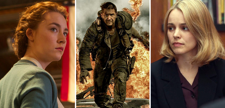 saoirse ronan, brooklyn, mad max fury road, tom hardy, rachel mcadams, spotlight, image