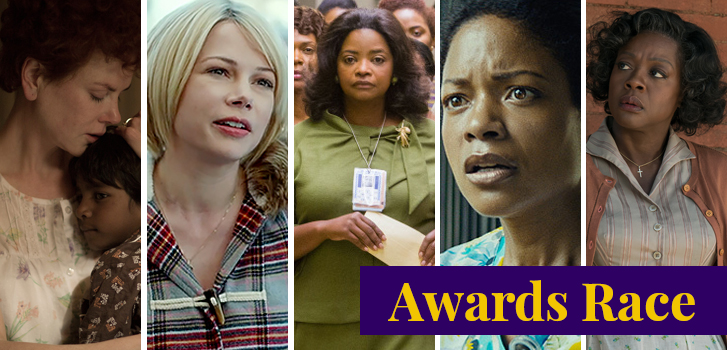 nicole kidman, michelle williams, octavia spencer, naomie harris, fences, viola davis, lion, manchester by the sea, hidden figures, moonlight, awards, best supporting actress,