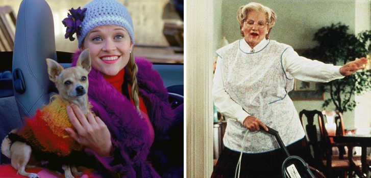 legally blonde, reese witherspoon, robin williams, mrs. doubtfire, blue monday, cineplex, promotion, offer, SCENE, image
