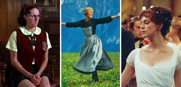 molly shannon, superstar, julie andrews, the sound of music, keira knightly, pride and prejudice,