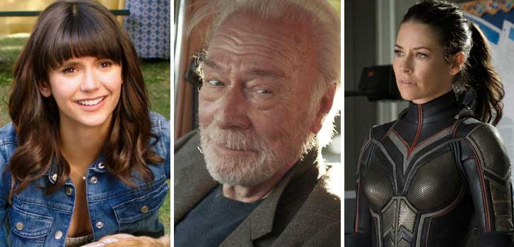 nina dobrev, dog days, christopher plummer, boundaries, ant-man and the wasp, evangeline lilly, marvel, movies, films, canadian, canada, canada day,