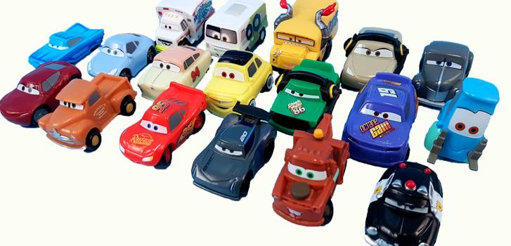 cineplex, cars 3, toys, suprise, bags