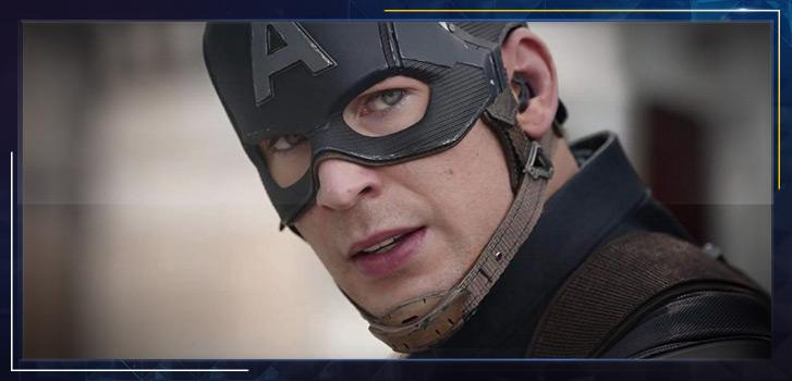Chris Evans as Captain America: Reenacting the Civil War