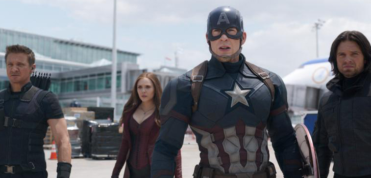 captain america: civil war, chris evans, elizabeth olsen, sebastian stan, anthony mackie, image,