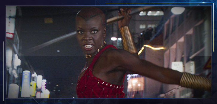 Danai Gurira as Okoye, the head of Black Panther's armed forces