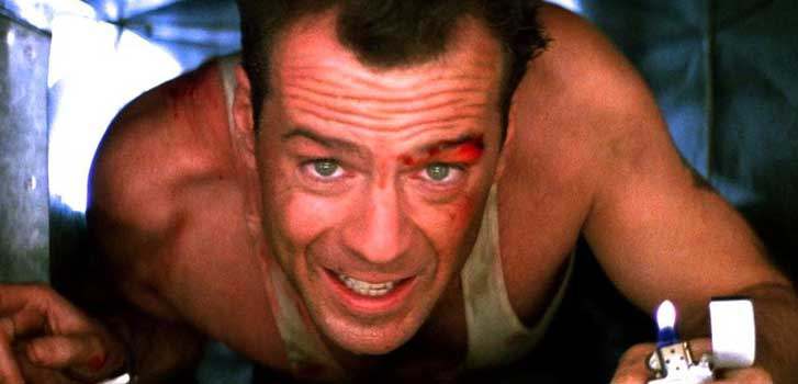 die hard, bruce willis, anniversary, movie, alan rickman,