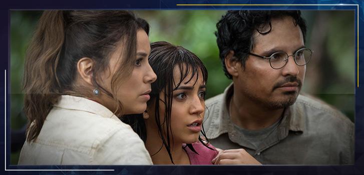 Eva Longoria and Michael Peña debate going back to high school—or sticking to the wild jungle