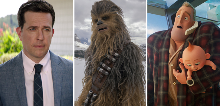 tag, ed helms, chewbacca, solo: a star wars story, the incredibles, disney, pixar