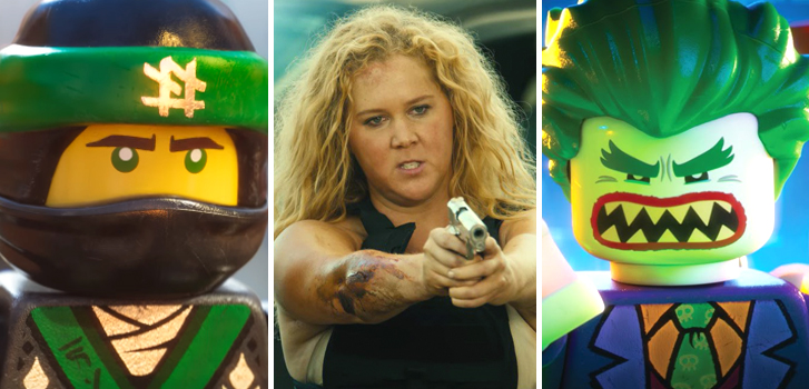 Lego Ninjago Movie and Snatched trailers, plus Lego Batman Movie clips and more make our weekly round-up