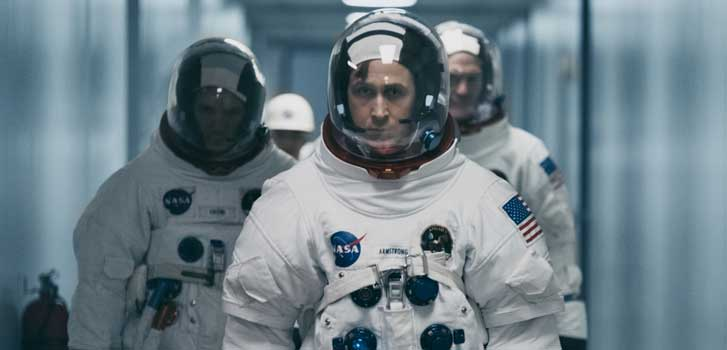 Experience the moon landing for the first time on the big screen in First Man