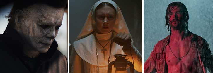halloween, michael myers, the nun, taissa farmiga, bad times at the el royale, chris hemsworth