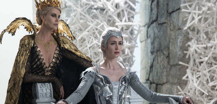 emily blunt, charlize theron, the huntsman: winter's war, movie, film, image