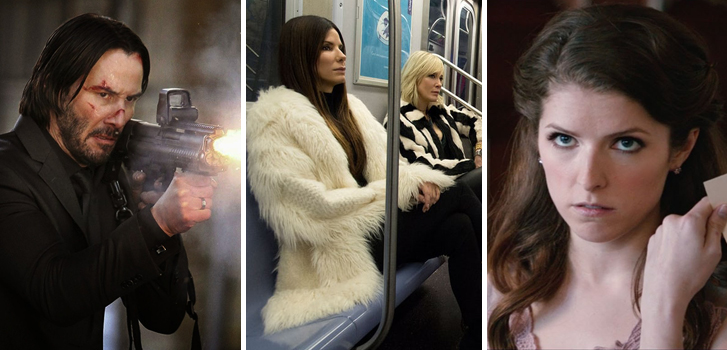 The first official look at the Ocean's Eight cast, John Wick: Chapter 2 clips and more make our daily round-up