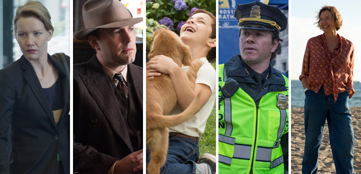 toni erdmann, live by night, ben affleck, a dog's purpose, patriots day, mark wahlberg, 20th century women, annette bening